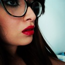 bright red lips :)