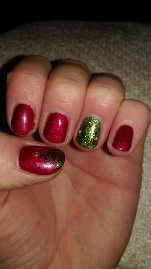 Gel Nail Polish, Christmas Tree Nail Art