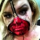 Halloween zipper face