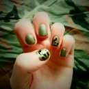 Quick and Easy Army/Camouflage Nail Art
