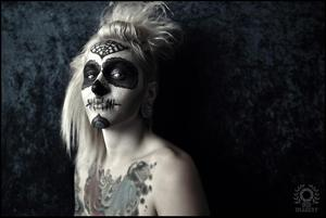 Another angle on the Dia De Los Muertos Makeup. Once again, photo credit goes to Brian Delumpa Imagery.