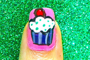 Yummy cupcake nailart to watch video tutorial for this look, SUBSCRIBE free to my youtube nailart channel: www.youtube.com/nailartbynidhi