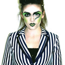 Beetlejuice inspired hair/make-up