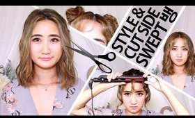 How To Cut & Style Side Swept Bangs | Korean/Kpop Inspired
