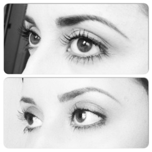 The Bottom are my natural lashes (sorry the picture is not great, I know) the top is at 7 weeks using Lilash. Lilash is a lash growing serum, no it is not Latisse, very different infact. I love this stuff and I would highly recommend.