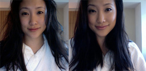 What I look like when I wake up...and what I look like after touching up ;)