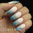 The Digit-al Dozen does winter wonderland: glitter French manicure