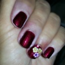 Floral Cutout Nail Art in Wined Up Polish