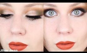Lime Crime Venus II Green and Peach Smokey Eye Makeup Tutorial | Lillee Jean