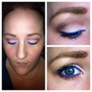 Pink/mauve with a pop of blue
