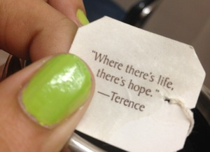 I like the quote and my nails :)