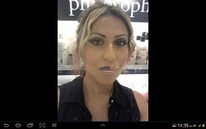 Inglot makeup..violent lips!