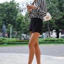 White And Black Strips Shirt