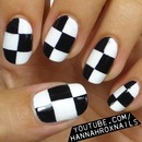 EASY Checkerboard Nail Art