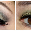 Green Eyeshadow on Brown Eyes