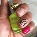 Summer Cheetah Nails