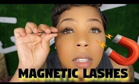 Trying MAGNETIC EYELASHES for the first time | BelleChloe