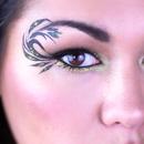 Black and Gold Leaf Eyeliner