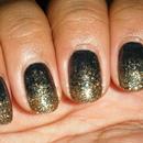 Glitter Gradient - Gold/Black