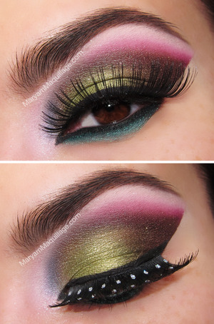 an 80's approach to Arabic makeup: http://www.maryammaquillage.com/2013/03/the-new-wave-spin-on-arabic-makeup.html