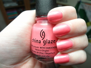 China Glaze Naked. What I wish I looked like Naked!! Shimmery and pink, its beautiful and flattering and feminine!