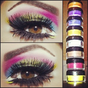 All the way from London Asyha Rocking my makeup line. What do you guys think of the colors!