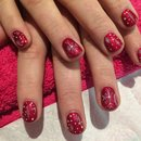 Gel Nail Art, Christmas Snowflakes