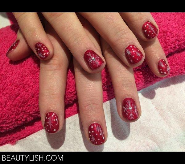 Christmas Nails Gel.Gel Nail Art Christmas Snowflakes Kimberley M S Photo