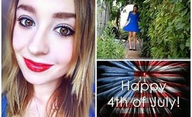 4th of July Makeup, Hair &Outfit