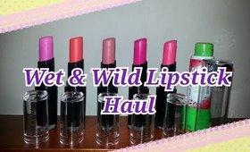 Wet & Wild lipstick haul