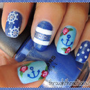 Floral Anchor Nails