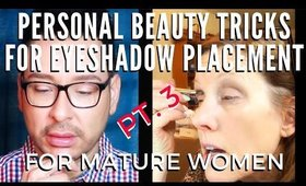 Personalized Beauty Tutorial For Eyeshadow Placement On Mature Eyes | mathias4makeup