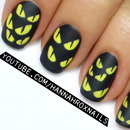 Spooky Halloween Eyes Nail Art