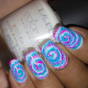 Tie Dye nail art  http://goo.gl/NDel4t