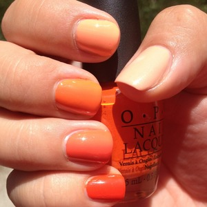 I used all my favorite oranges for this. For the complete polish list see http://polishmeplease.wordpress.com