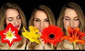 3 easy simple makeup looks for beginners. Flowers inspired makeup tutorial. Flower TimeLapse