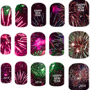 Happy new year 2014 nail art decals