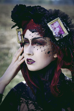 Photography: Charlotte Kinson Model: Anna S Makeup: Me Styling: Amor D Amori Corset: Kirsteen Ross  http://tabbycasto.tumblr.com/post/19891227441/one-for-sorrow-two-for-joy#.UFs11o6f_0c