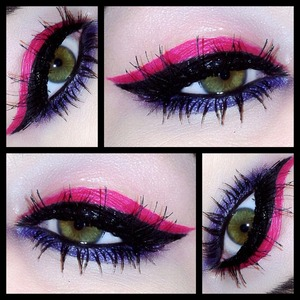 Obvi I love pink but couldn't find a good pink liner so I made one using the pigment and Fix+!  Follow me on instagram for more looks @makeupmonsterkiki!