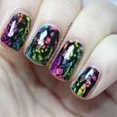 Rainbow Sponge-icure with OPI Black Spotted