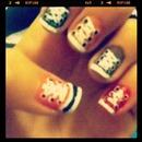 MY Converse nails