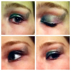 I was just kinda playin around with some makeup cuz I was bored and this was what happened. I'd prolly only ever actually wear this for a costume or take off the top silver wing for like a special event or party. Idk. I was just playin with it. Thought I'd post it.