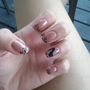 sand dollor for base coat with black animal print