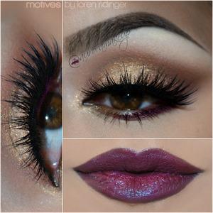 instagram @auroramakeup FB:  https://www.facebook.com/AuroraAmorPorElMaquillaje  BROWS/CEJAS: Brow Pro Palette de Anastasia Beverly Hills tonos TAUPE y DARK BROWN  OJOS/EYE MAKEUP: EYE MAKEUP /OJOS: Products @Motivescosmetics   -Eye Shadow Base/ Prebase de Sombras  -Pressed Eye Shadow in BLIZZARD -brow bone/ Sombra BLIZZARD -hueso de la ceja  -NATIVE eyeshadow from Element Color palette - crease / Sombra NATIVE de la paleta Element Color para el pliegue  -Creme Eye Shadow in BUTTERSCOTCH on mobile eyelid & waterline/ Sombra en crema BUTTERSCOTCH en el parpado movil y linea del agua  -Paint Pot Mineral Eye Shadow in ALLURE on mobile eyelid & inner corner/ Pigmento mineral en tono ALLURE en el parpado movil y lagrimal  -La La Shimmers in Naughty Mauve on bottom lashline / Pigmento color Naughty Mauve debajo del ojo  LASHES/PESTANAS: 2 pairs of ICONIC by @houseoflashes / 2 pares de ICONIC de @houseoflashes Lala mineral Volumizing & Leengthening mascara in BLACK/ Mascara mineral Volumizante y alargadora en color negro  LIPS/LABIOS La La Mineral Khol Eyeliner in VIOLET as base & La La Moisture Rich Lipstick in DIVINE / Lapiz delineador en tono VIOLET y Labial en tono DIVINE