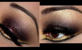 Smoky Plum & Gold with Winged Bottom Liner!!!