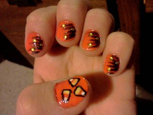 I did these lil delicious beauties last year. Even though I don't really eat candy corn...lol their still cute ;-)