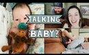 Newborn Baby Tries to Talk?!?! | Cute Baby gets Fussy