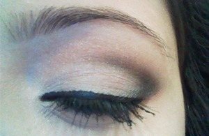 on my junior prom i did a smokey eye but less blended out