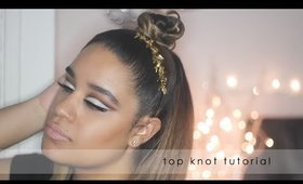 Half Up Top Knot Hairstyle Tutorial   Mini Knot