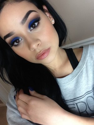 Used the Kat Von D Star Studded palette I LOVE this blue!!